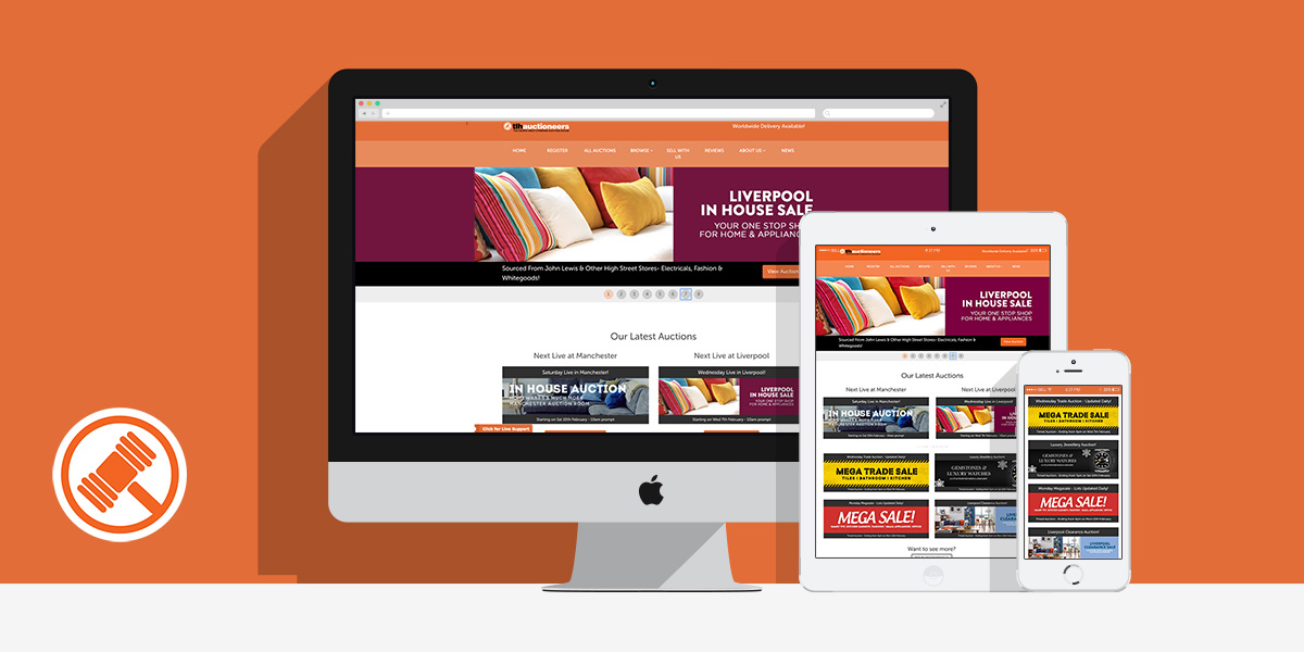 TLH Auctioneers Web & Bespoke CMS: By Factory, Digital Agency Manchester