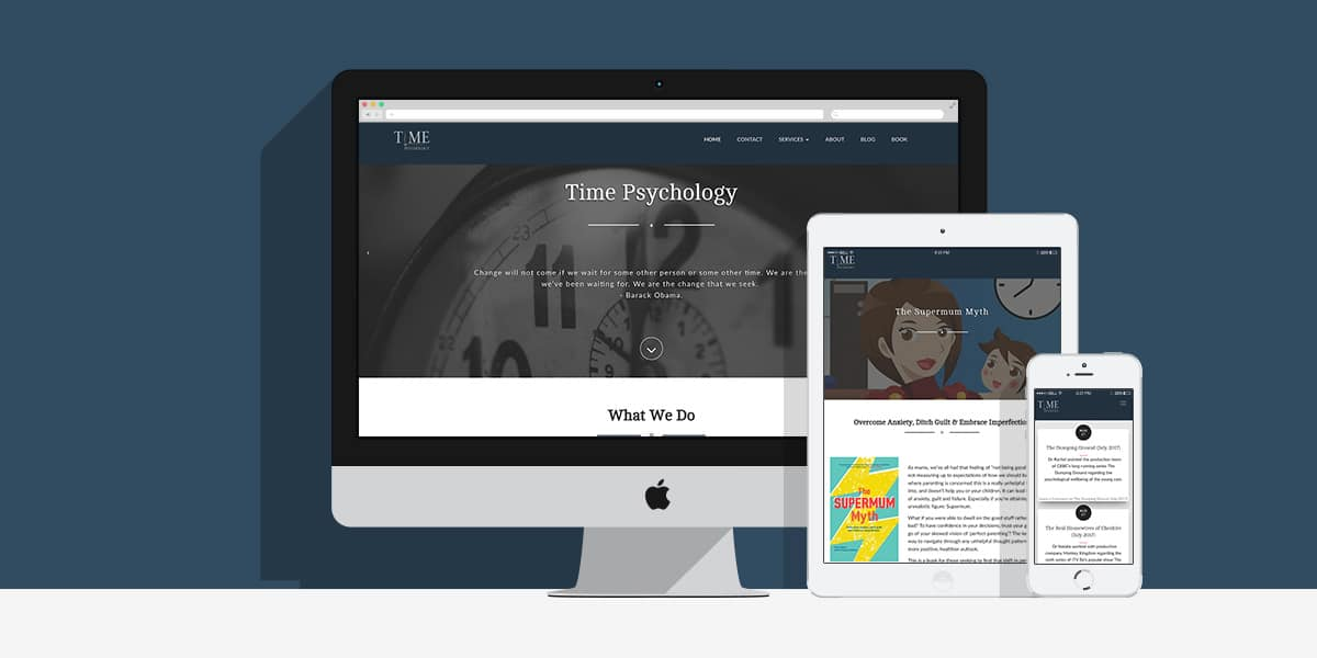 Time Psychology Website: By Factory, Digital Agency Manchester