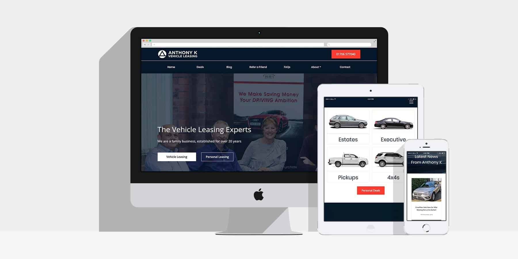 Web and Marketing for Anthony K: By Factory, Digital Agency Manchester
