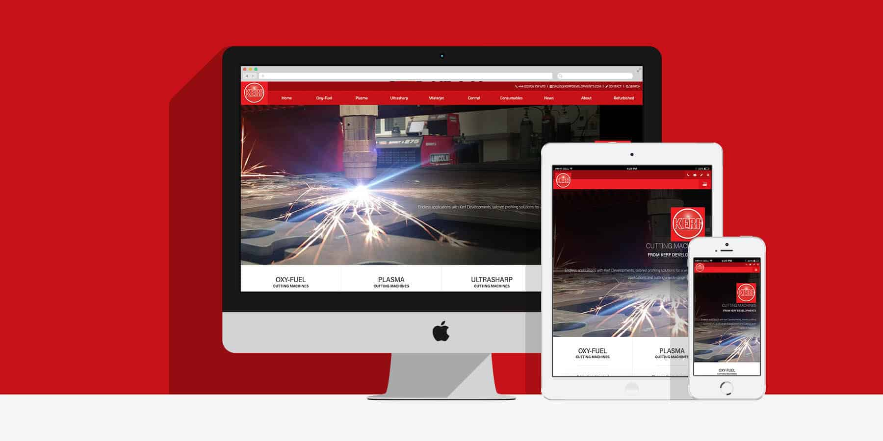 McGarrys Van Hire website design & development