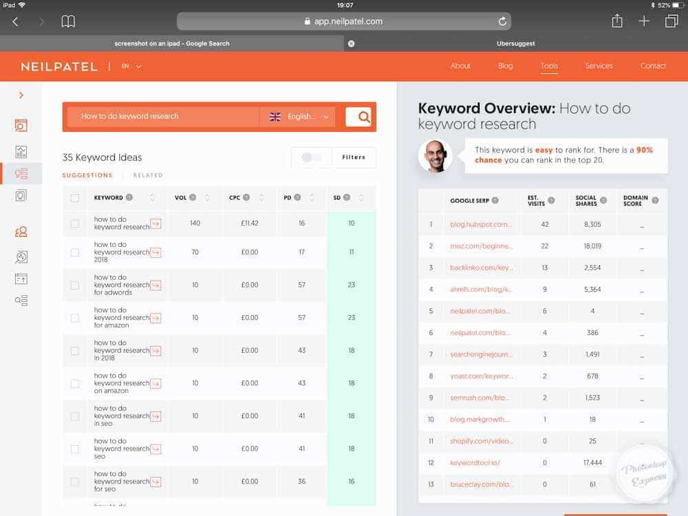 How To Do Keyword Research With UberSuggest