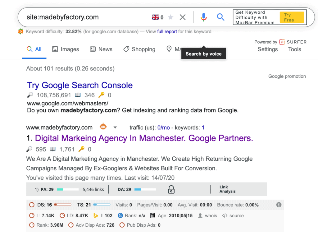 Sitemap error checking on Google Search Console